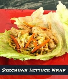 Szechuan Lettuce Wraps look light and delicious! #recipe #healthy #dinner