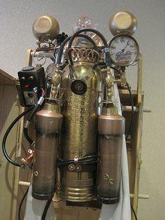 Steampunk fire extinguisher