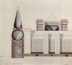 Design for a Congress Hall in Milan, Aldo Rossi 1984