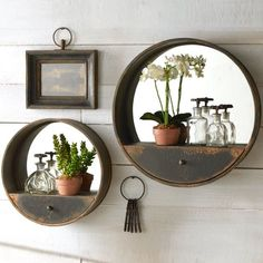 10 Adventurous Clever Tips: Standing Wall Mirror Chandeliers wall mirror decoration spaces.Wall Mirror With Shelf Front Doors gallery wall mirror vanities.Wall Mirror With Shelf Bookshelves. Wall Mirror With Shelf, Wall Mirrors Entryway, Rustic Wall Mirrors, Diy Mirror, Bathroom Wall Decor, Diy Wall Decor, Mirror Bedroom, Mirror Ideas, Mirror Vanity