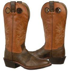 Double H 14 inch Buckaroo Boots (Chocolate/Orange) - Men's Boots - 13.0 D