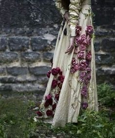 Beautiful flowers on dress