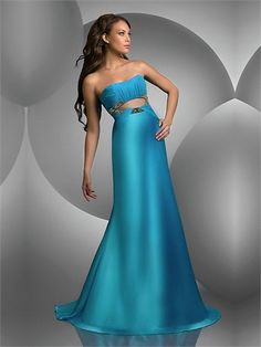 A-line Strapless with Pleatings and Sequins Open Back Long Homecoming Dress HD1718 www.homecomingstore.com $160.0000