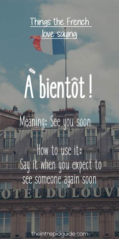 After you get tuned into French a little, you suddenly hear people use very French phrases and expressions. Here are the top phrases the French love Saying! French Language Lessons, French Language Learning, Learn A New Language, French Lessons, German Language, Spanish Lessons, Japanese Language, Spanish Language, Basic French Words