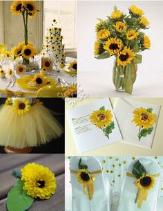 Yellow Sunflowers Wedding Ideasideas