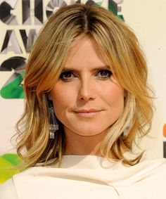 Heidi Klum Hairstyle - Medium Straight Casual | TheHairStyler.com