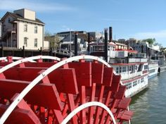 Paddle Wheelers in Old Town, Sacramento, CA.