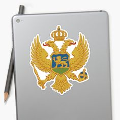 'Coat of arms of Montenegro' Sticker by ArgosDesigns Montenegro Flag, Coat Of Arms, Stickers, Prints, Design, Family Crest, The Sentence, Decals