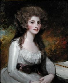 Portrait of Mrs. Sarah Tickell nee Ley by George Romney (1734-1802), c.1785.