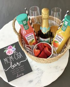 gifts for mom day gifts Mother's Day Gift Ideas - Crisp Collective Mothers Day Baskets, Mother's Day Gift Baskets, Wine Baskets, Diy Mothers Day Gifts, Mothers Day Brunch, Mother Day Gifts, Mothersday Gift Ideas, Themed Gift Baskets, Gift For Mother