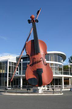 The Ceilidh Fiddle - Sydney, Cape Brenton, Nova Scotia,Canada Ottawa, Canada Eh, Cape Breton, Roadside Attractions, Wow Art, Prince Edward Island, New Brunswick, Canada Travel, East Coast