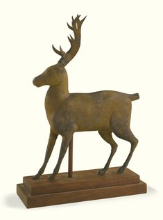 painted zinc and copper miniature deer weathervane, attributed to J. Howard & Company West Bridgewater, Plymouth County, Massachusetts, 1852-1867