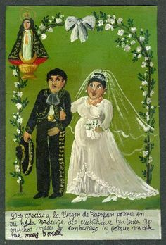 I thank the Virgin of Zapopan because on my wedding nobody noticed that I had been pregnant for months. And thanks for a very nice wedding.