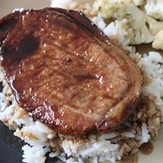 This is a great and easy way to add flavor to pork chops, and it is always a hit at family gatherings. Just take a few minutes to make the marinade and let it sit for several hours. If cooking in the oven, set at 350 degrees F and cook for 30 minutes, or until done.