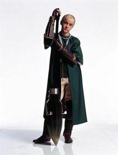 Malfoy dressed in his Quidditch uniform