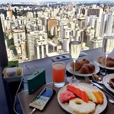 Champagne brunch from the top!