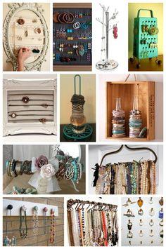 portagioie #DIY: idee per sistemare i bijoux. Creatività e #faidate su www.donna-in.com