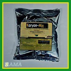 KARYON-MIX es un Producto Nutricional compuesto por Micro-Nutrientes Quelatados, en forma de microgránulos, obtenidos por mezcla química en fase sólida; asegurando una dosificación correcta y homogénea.