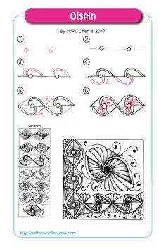 Olspin pattern by YuRu Chen   Zentangle