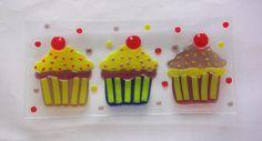 fused glass cupcake - Google Search
