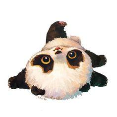 Panda Wallpapers, Cute Cartoon Wallpapers, Cute Animal Drawings, Cute Drawings, Panda Background, Cute Panda Wallpaper, Panda Art, Panda Love, Cute Art