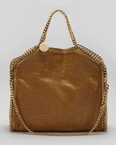 WOW. Fold-Over Falabella Shoulder Tote Bag, #VEGAN, Orange by Stella McCartney at Neiman Marcus.