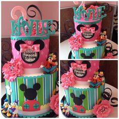 Mickey/Minnie cake