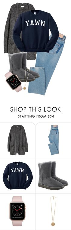 """""""OOTD"""" by queen-4-giants ❤ liked on Polyvore featuring UGG, Givenchy, uggs, cardigan and applewatch"""
