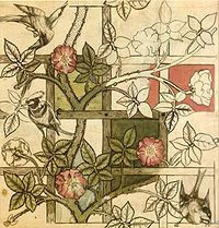 William Morris design for Trellis wallpaper 1862 - William Morris - Wikipedia, the free encyclopedia