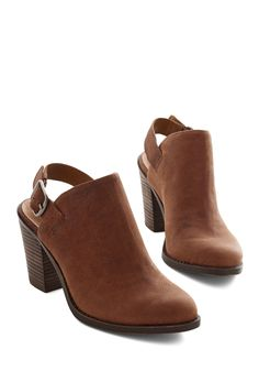 Roam Sweet Home Bootie. Home is where the heart is, and where you like to kick up your rich toffee-brown booties by Lucky as you relax at the end of the day. #brown #modcloth