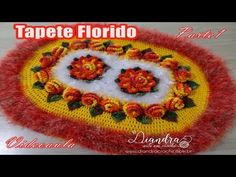 "Tapete de Crochê Florido- Parte 1 ""Diandra Schmidt Rosa"" - YouTube"