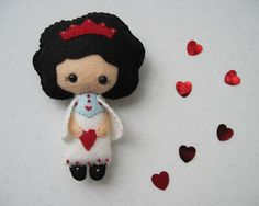 Felt Doll Sweetheart Valentine by FiddledeeDeeCraft on Etsy, $25.00