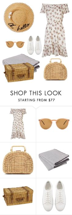 """""""Summer picnic"""" by city-style-story ❤ liked on Polyvore featuring Denim & Supply by Ralph Lauren, Oliver Peoples, Kayu, Broste Copenhagen, Williams-Sonoma and Kate Spade"""