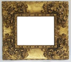 Spanish 17th C. hand carved and gilded frame