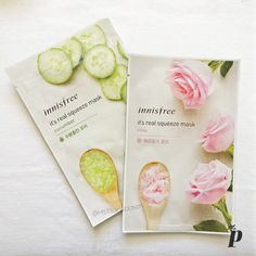 Innisfree   It's real squeeze - Sheet Mask   Cucumber & Rose