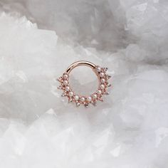 The Gem Kolo in rose gold from BVLA with genuine Pearls and white Sapphires