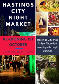 The Hastings City Night Market will run 6 markets in right here in Hastings CBD. Things To Do, Events, Marketing, Night, Pictures, Things To Make, Photos, Grimm