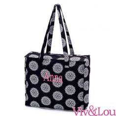 Black Maddie Tote Bag