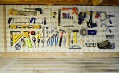 peg board organization | peg board! (garage organization) | Garage