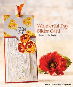 Wonderful Day Slider Card from the Winter 2015 issue of CardMaker Magazine. Order a digital copy here: https://www.anniescatalog.com/detail.html?prod_id=127955