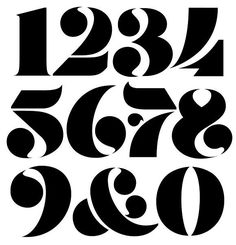 Fat Stencil Numerals by Andrei Robu on Behance Bauhaus Typography, Retro Typography, Typography Quotes, Typography Inspiration, Typography Letters, Typography Poster, Graphic Design Typography, Lettering Design, Number Typography