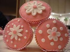 cupcakes met bloemetjes