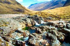 A gentle Highland burn rolling through the Glen. (Scotland) LET'S GO NOW