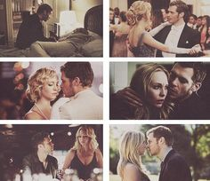 Image de the vampire diaries, klaroline, and klaus