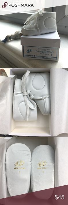 *Host Pick* Made in  - Handmade Baby Sneakers Is your newborn baby a future fashion icon? These exquisite shoes are crafted by hand in Italy for newborns with the finest leathers available in the market. Sold at luxury retailers worldwide Rudin Needlecraft shoes are heirloom pieces that make great gifts and can be treasured for generations. Brand new with box ! Rudin Needlecraft  Shoes Baby & Walker