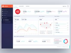 Dashboard orange UX by Gleb Kuznetsov✈