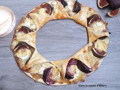 [Miam] Tarte couronne d'automne au camembert, confit d'oignon et figues / crown tart with figs, camembert and onion confit - Dans la cuisine d'hilary @Hilarycuisine