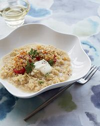 Quinoa Risotto with Lemon and Roasted Tomatoes
