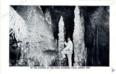 In the Garden of the Gods, Diamond Cave, Jasper, Arkansas Arkansas State Archives G1163.6