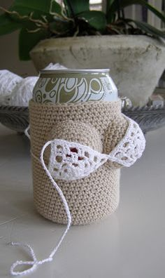 Halager: DIY - The gift for boy ass: Crochet cover for beer / soda cans FREE PATTERN as at 24th June 2015